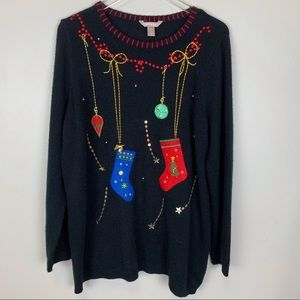 WHITE STAG black Christmas sweater